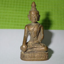 Phra Buddha LP Tanjai Thai Statue Magical Powerful Lucky Brass Amulet 40 mm H''