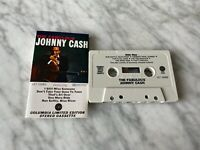Johnny Cash The Fabulous Johnny Cash CASSETTE Tape Columbia LET 10063 RARE! OOP!