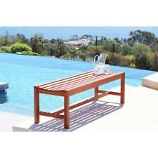 Malibu Eco-friendly 4-foot Backless Outdoor Hardwood Garden Bench Seating Area