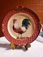 Certified International Rooster Large Platter Pamela Gladding Rooster Dish