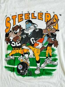 Pittsburgh Steelers x Looney Tunes 90's NFL Football T Shirt Funny Vintage Hot