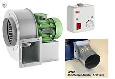 Radialventilator Radiallüfter Gebläse Axial 1950m³h+ 5A Drehzahlregler + Flansch