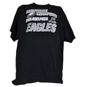 NFL Philadelphia Eagles Conference Champions Men Tshirt Tee Short Sleeve Black