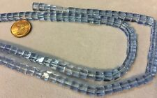 "THREE (3) 16"" Strands 6mm Czech Glass Beads LIGHT SAPPHIRE CUBES - Great Shape"