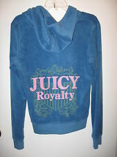 Juicy Couture Women's Blue Terry Track Jacket Size XL NEw