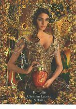 PUBLICITE ADVERTISING 2006  CHRISTION LACROIX a crée le parfum flacon rouge