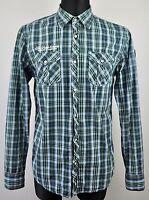 SCOTCH&SODA Long Sleeve Cotton Check Mens Large Shirt L Casual Lumberjack Tartan