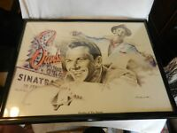 Sinatra At The Sands Framed Limited Edition Print by Betty Harper 155/295 signed