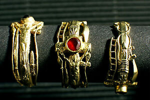 Martin Luther's wedding ring  with genuine bohemian garnet handmade  Weite 56