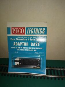 PECO PL12 Adaptor Base For use with PL10 point motor above baseboard New in pack