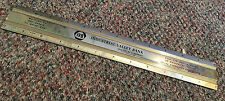 USA made IVB - Industrial Valley Bank and Trust Company advertising brass ruler