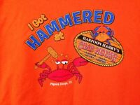 Gildan Harpoon Harry's Crab House Men's Graphic T-shirt - Size 2XL Color: Orange