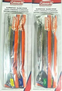 Coleman Illumisticks Lot of 2 Packs of 2 Glow Stick for Kids Camping Outdoor