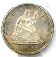1891-S Seated Liberty Quarter 25C - Certified PCGS AU Details - Rare Coin!