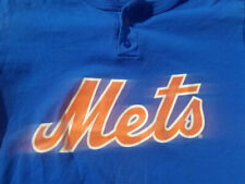 NEW YORK METS Majestic 2 Button Licensed MLB T-Shirt NY METS Size XL