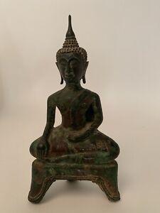 Buddha Thailand Südostasien grün patiniert