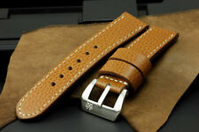 """SV 24mm """"Giraffe"""" Brown Cow Leather Band Strap+Buckle for 44mm Panerai PAM Watch"""