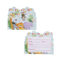 10pcs invitations thème Safari cartes enfants invitations de fête de mariOP