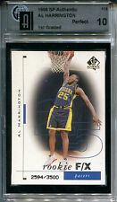 1998-99 UD SP Authentic AL HARRINGTON #/3500 RC Pacers Pristine Perfect GAI 10