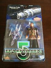 BABYLON 5 - MARCUS COLE ACTION FIGURE 1997 PREVIEW'S EXCLUSIVE ITEM WHITE STAR