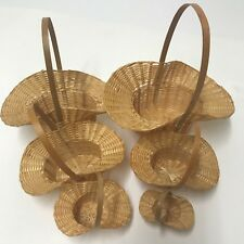 Baskets Cane Nesting Set of 6 Nesting, Party Decorations, Dolls, Small Gifts