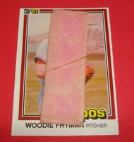 Rare 1981 Donruss Card with GUM Stuck on it - Montreal Expos Woodie Fryman #331