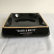More details for large vintage black and white scotch whisky ashtray by wade for your man cave