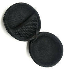 Black Portable Zipper Travel Round Watch Case Holder for  Wristwatch Protection