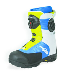 HMK Men's Size 15 Team BOA Focus White/Blue/Green Snowmobile Snocross Boot