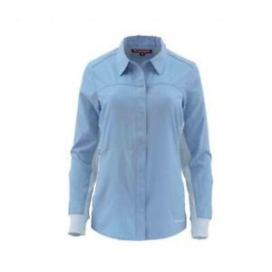SALE Simms Woman's BiComp LS Shirt Faded Denim Lg NEW FREE SHIPPING