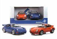 SOLIDO 180004 Porsche 2 x road car set 911 RSR & 964 Carrera RS 1:18th scale