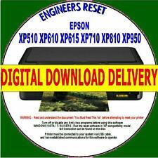 EPSON XP510 XP610 XP615 XP710 XP810/950 WASTE INK COUNTER RESET DIGITAL DOWNLOAD