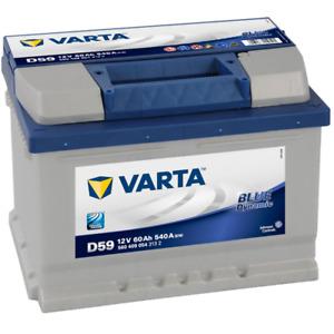 Batería de Coche/Vehículo Varta Blue Dynamic D59. 12V - 60Ah/540A (EN) 242x17...