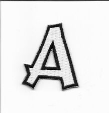 "Alphabet Letter A 2"" Tall Embroidered Iron On Patch wx0019"
