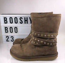 Ugg Australia Brown Studded Low Boots Size Uk 6 39
