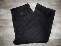 Vintage Mens Woolrich Malone Charcoal Heavy Wool Hunting Pants Bibs Size 36 X 27