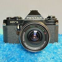 Pentax mv 1 35mm SLR Film Camera Working Order W/ 28mm F/2.8 Lens & 28-70mm Lens
