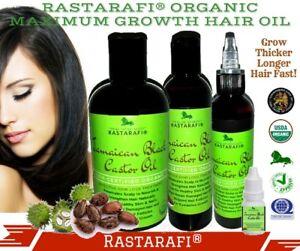 Rastarafi® Pure Jamaican Black Castor Oil Extra Dark/ Potent | Fast Hair Growth