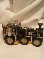 CL56    Train Engine Tin w/ Hotel Promotional Advertisement - Holiday Inn - Fla