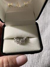 1 carat three stone Diamond ring sz 6