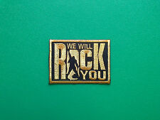 HEAVY METAL PUNK ROCK MUSIC SEW ON / IRON ON PATCH:- WE WILL ROCK YOU QUEEN