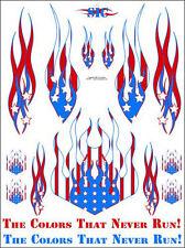 "Sic Designs ""US Flag Flames"" Sticker Sheet SIC018"