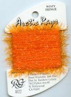 Rainbow Gallery Arctic Rays #AR22 Brite Orange Sparkly Wispy Fringe Thread 8yd