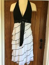Betsy & Adam White And Black Dress Ideal For Wedding, Cruise, Occasion Size 8