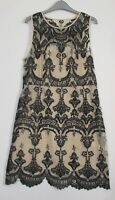 New H&M Embroidered Mesh Tunic Dress Party - Size 18 - EU 46