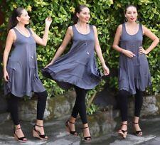 Women's Fashion Dress Mini Top - Stretched Jersey Uneven Hem - LotusTraders Z822