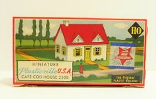 PLASTICVILLE HO Scale Cape Cod House Model Kit #2300-59 VINTAGE