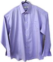 "Marks & Spencer Mens Lilac UK 16"" Collar Long Sleeved 100 % Cotton M & S Formal"