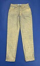 Anna molinari jeans donna usato W32 tg 46 dorati oro lucido vintage hot T5053