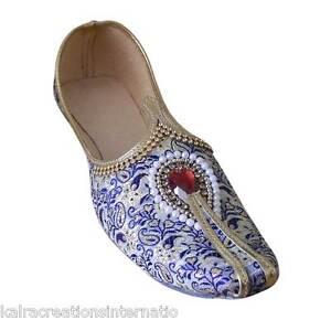 Traditional Wedding Men Shoes Handmade Punjabi Khussa Designer Jutties US 6-9